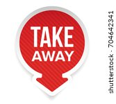 take away sign vector label... | Shutterstock .eps vector #704642341