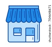 convenience store vector line... | Shutterstock .eps vector #704648671