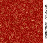 christmas seamless pattern from ... | Shutterstock .eps vector #704657935