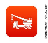 truck crane icon digital red... | Shutterstock .eps vector #704659189