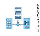 database server storage | Shutterstock .eps vector #704659765