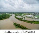 view of the devastation of... | Shutterstock . vector #704659864