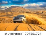 Offroad desert safari in Dubai. (dune bashing).