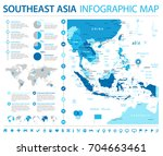 southeast asia map   detailed... | Shutterstock .eps vector #704663461