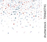 blue and red confetti.... | Shutterstock .eps vector #704665741