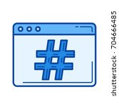 hashtag vector line icon... | Shutterstock .eps vector #704666485