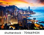 day2night scene on braemar hill ... | Shutterstock . vector #704669434