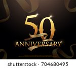 50 year anniversary celebration ... | Shutterstock .eps vector #704680495