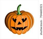 halloween. scary face pumpkin.... | Shutterstock .eps vector #704683321