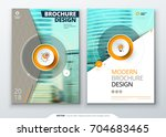cover set. teal template for... | Shutterstock .eps vector #704683465