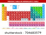 mendeleev's periodic table of... | Shutterstock .eps vector #704683579