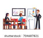 business man teacher giving... | Shutterstock .eps vector #704687821