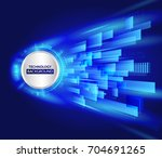 abstract technology line... | Shutterstock .eps vector #704691265