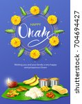 happy onam background with... | Shutterstock .eps vector #704694427