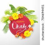 happy onam background with... | Shutterstock .eps vector #704694451