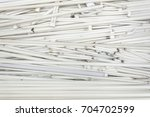 Small photo of Large amount of spent old fluorescent lamp tubes about to be recycled