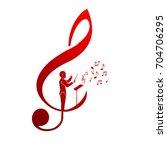 choir guide logo | Shutterstock .eps vector #704706295