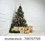 Decorated Gold Christmas Tree...