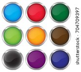 round glossy buton icon set. | Shutterstock .eps vector #704709397