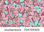seamless background with... | Shutterstock .eps vector #704709505