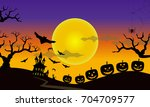 moonlight's halloween | Shutterstock . vector #704709577