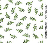 seamless pattern of tropical... | Shutterstock .eps vector #704709637
