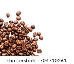 coffee beans. isolated on a... | Shutterstock . vector #704710261