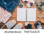 clothing traveler's passport ... | Shutterstock . vector #704716315