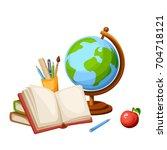 vector illustration of a globe  ... | Shutterstock .eps vector #704718121