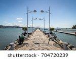molhe da barra sul  breakwater  ... | Shutterstock . vector #704720239