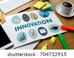 innovation think creative ideas ... | Shutterstock . vector #704722915