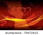 kissing couple. | Shutterstock .eps vector #70472413