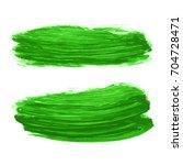 vector set of greenery... | Shutterstock .eps vector #704728471