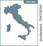 the detailed map of the italy... | Shutterstock .eps vector #704728705