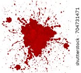 abstract vector blood splatter... | Shutterstock .eps vector #704731471