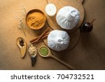 thai herbs and spa massage ... | Shutterstock . vector #704732521