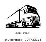 A truck silhouette logo vector | Shutterstock vector #704733115