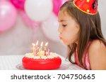 Cute Girl Celebrating His...