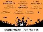 halloween night background   Shutterstock .eps vector #704751445