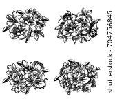 flower set   Shutterstock .eps vector #704756845