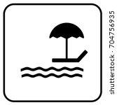 beach sign white. vector. | Shutterstock .eps vector #704756935