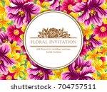 vintage delicate invitation... | Shutterstock . vector #704757511