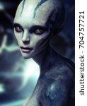 Portrait Of A Alien Female . 3...