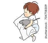 vector illustration of little... | Shutterstock .eps vector #704758309