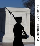 A Sentry Passes In Front Of The ...