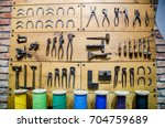 collection of vintage artisan... | Shutterstock . vector #704759689