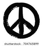 grunge peace sign.vector grunge ... | Shutterstock .eps vector #704765899