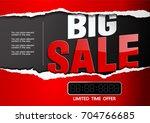 big sale limited time offer.... | Shutterstock .eps vector #704766685