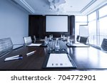business meeting room or board... | Shutterstock . vector #704772901