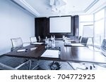 business meeting room or board... | Shutterstock . vector #704772925